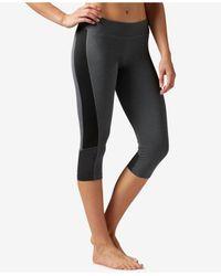 Reebok | Gray Workout Ready Colorblocked Capri Leggings | Lyst