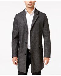 INC International Concepts | Black Men's Speckled Topcoat for Men | Lyst