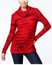 Kensie | Red Space-dyed Cowl-neck Sweater | Lyst
