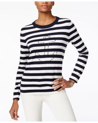 Tommy Hilfiger | Blue Whimsy Graphic Sweater | Lyst
