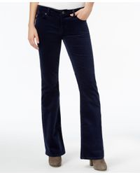 Tommy Hilfiger | Blue Velveteen Flared Pants, Only At Macy's | Lyst