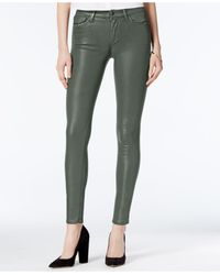 Joe's Jeans | Green Joe's The Icon Ankle Coated Skinny Jeans | Lyst