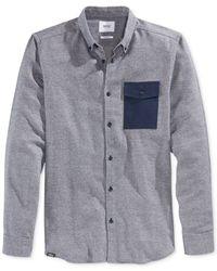 Wesc | Blue Men's Long-sleeve Oakes Shirt for Men | Lyst