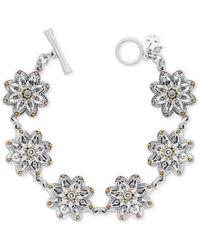 Lucky Brand | Metallic Two-tone Flower Link Bracelet | Lyst
