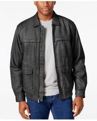 Tommy Bahama   Black Men's Santiago Leather Aviator Jacket for Men   Lyst