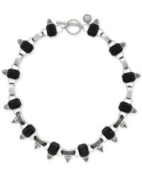 BCBGeneration | Metallic Silver-tone Black Collar Necklace | Lyst