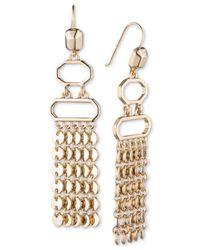 Ivanka Trump - Metallic Gold-tone Fringe Chandelier Earrings - Lyst