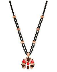 kate spade new york | Metallic Burst Into Bloom Gold-tone Beaded Boho Pendant Necklace | Lyst