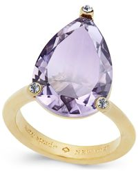 kate spade new york - Metallic Hidden Gems Gold-tone Geometric Crystal Ring - Lyst