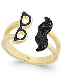 kate spade new york - Black Dress The Part Gold-tone Disguise Ring - Lyst