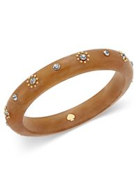 kate spade new york | Multicolor Out Of Her Shell Gold-tone Tortoiseshell-look Bangle Bracelet | Lyst