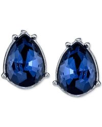 2028 | Silver-tone Blue Faceted Stone Drop Earrings, A Macy's Exclusive Style | Lyst