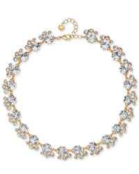 Charter Club - Metallic Gold-tone Cubic Zirconia Necklace - Lyst