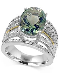 Effy Collection | Metallic Green Amethyst (5 Ct. T.w.) And Diamond Accent Statement Ring In Sterling Silver And 18k Gold | Lyst