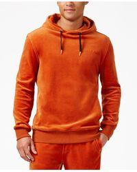 Sean John | Orange Men's Velour Track Hoodie for Men | Lyst