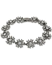 2028 | Metallic Silver-tone Crystal Snowflake Link Bracelet, A Macy's Exclusive Style | Lyst
