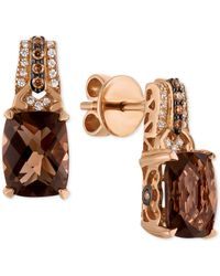 Le Vian | Metallic Smoky Quartz (3-3/8 Ct. T.w.) And Diamond (1/6 Ct. T.w.) Drop Earrings In 14k Rose Gold | Lyst