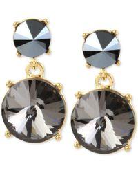 Kenneth Cole | Black Gold-tone Stone Drop Earrings | Lyst