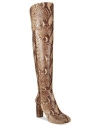 INC International Concepts | Brown Tyliee Over-the-knee Boots | Lyst