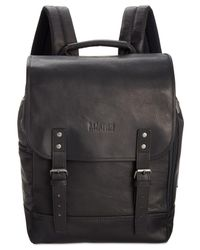 Kenneth Cole Reaction | Black Men's Colombian Leather Backpack for Men | Lyst