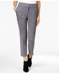 Catherine Malandrino | Gray Sol Cropped Tweed Pants | Lyst
