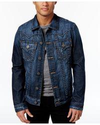 True Religion | Blue Men's Jimmy Denim Jacket for Men | Lyst