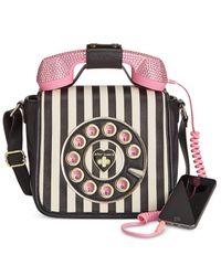 Betsey Johnson   Multicolor Phone Crossbody With Rhinestones   Lyst