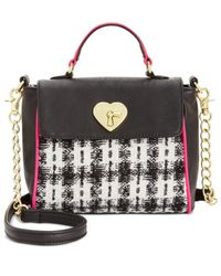 Betsey Johnson | Multicolor Tweed Mini Top Handle Bag, A Macy's Exclusive Style | Lyst