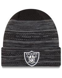 KTZ - Black Oakland Raiders Touchdown Cuff Knit Hat for Men - Lyst