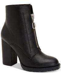 BCBGeneration - Black Pilar Block-heel Booties - Lyst