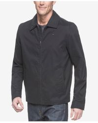 Tommy Hilfiger Blue Classic Front-zip Filled Micro-twill Jacket for men