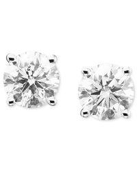 Macy's - Metallic Diamond Stud Earrings (1/5 Ct. T.w.) In 14k White Or Yellow Gold - Lyst