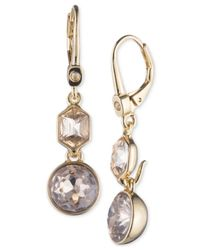 Ivanka Trump Metallic Gold-tone Pavé & Colored Stone Drop Earrings