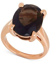 Macy's - Metallic Smoky Quartz Statement Ring (9-1/2 Ct. T.w.) In 14k Rose Gold - Lyst