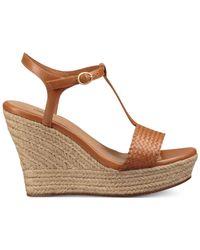 Ugg Brown Fitchie Wedge Espadrille Dress Sandals