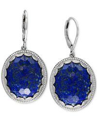 Effy Collection - Metallic Lapis Lazuli Drop Earrings (24-1/2 Ct. T.w.) In Sterling Silver - Lyst