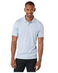 Perry Ellis - Blue Two-button Polo for Men - Lyst