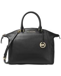 Michael Kors - Black Riley Large Satchel - Lyst