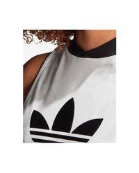 Adidas - White Originals Fashion League Jacquard Sleeveless Dress - Lyst
