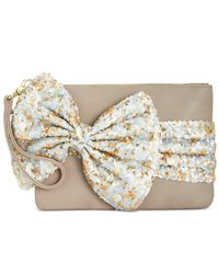 Betsey Johnson | Multicolor Large Sequin Bow Wristlet | Lyst
