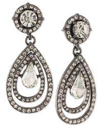 ABS By Allen Schwartz | Multicolor Hematite-tone Crystal Teardrop Earrings | Lyst