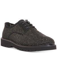 Donald J Pliner   Black Connie Embellished Suede Lace-up Dobby Shoes for Men   Lyst