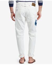 Polo Ralph Lauren - White Men's Logan Loose Tapered Cotton Jeans for Men - Lyst