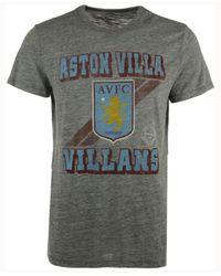 47 Brand Gray Men's Aston Villa Fc Crest Tri-state T-shirt for men