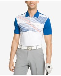Izod | Blue Men's Colorblocked Performance Golf Polo for Men | Lyst