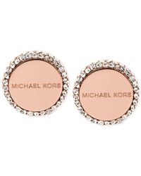 Michael Kors   Pink Logo Disc Stud Earrings   Lyst
