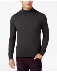 INC International Concepts Gray Men's Fine Gauge Turtleneck for men