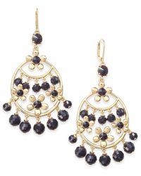 kate spade new york | Metallic Sunset Blooms Gold-tone Beaded Chandelier Earrings | Lyst