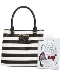 Betsey Johnson | Black Satchel With Patches | Lyst