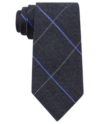 Michael Kors | Blue Men's Randy Grid Tie for Men | Lyst